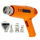 2000W 220V Máquina eléctrica industrial continua de aire caliente ajustable 60-600 ℃ con 4 boquillas