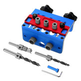 3 In 1 Woodworking Drill Guide Set Hole Puncher Dowelling Jig Self Tighen Clamp Dowel Tenon Punching