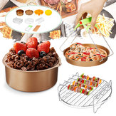 10 Stks / set 7 inch non-stick Air Friteuse Accessoires Cake Bakken Pot BBQ Barbecue Pizza Pan