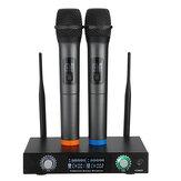 2 канала Pro Беспроводная Микрофон Система УВЧ, двойной ручной микрофон, караоке для дома