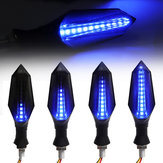 2pcs Smoked Motorcycle Blue LED Indicatore di direzione lampada Indicatore di direzione a flusso continuo