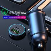 Bakeey 60W QC3.0 PD Φορτιστής αυτοκινήτου FCC / QC3.0 / AFC / PPS Γρήγορη φόρτιση για iPhone 12 Pro Max για Samsung Galaxy Note S20 ultra Huawei Mate40 OnePlus 8 Pro