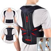 Suporte Traseiro Ajustável Cinto Suporte de Volta Posture Corrector Ombro Lombar Suporte Voltar Protetor