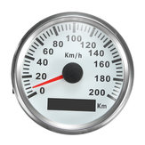 3.34 Inch Auto Car GPS Speed Meter Stainless Waterproof White Digital Gauge 200km/h