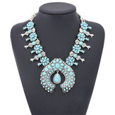 Bohemia Turquoise Blossom Necklace