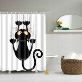 180x180cm Le rideau de douche de tissu de salle de bains de bande dessinée Polyester imperméable avec 12 crochets