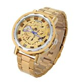 LUCKYFAMILY Luxury Hollow Chinese Dragon Automatic Mechanical Watch Analog Men Watch