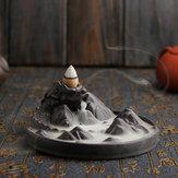 Titular Queimador de Cone de Fluxo de Incenso de refluxo Deitado Dragão Incensário de Perfume de Fluxo de Fumaça de Montanha Censer