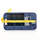 Deli 58125 27pcs Sketch Pencil Set Drawing Pencils herramienta Kit principiante suministros de arte estacionario para Escuela estudiantes