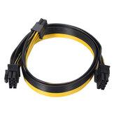 20cm PCI-E 6 Pin - 8 Pin Güç Kabloları için Grafik Kartı Video Adaptörü