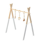 Madera Baby Stand Play Toy Nursery Fun Hanging Toys Mobile Wood Rack Actividad Gym
