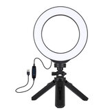 Ring Light Led Lamp with Tripods 3 Colors Telescopic Tripods Flashes Selfie Lights for iPhone Xiaomi Huawei