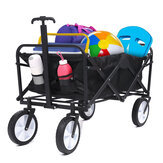 Multifunction Folding Beach Cart Outdoor Garden Table Drink Holders Camping Picnic Storage Cart