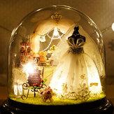 CuteRoom B-022 Love Forever DIY Dollhouse Miniature Kit Συλλογή δώρο με φως