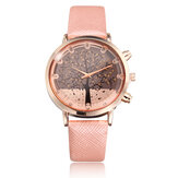 Elegant Fruit Apple Tree PU Leather Band Women Quartz Wrist Watch