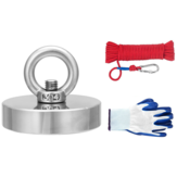 35-600KG Neodymium Fishing Salvage Recovery Magnet with 20M Rope and Gloves For Detecting Metal Treasure