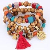 Bracelet en perles de couleurs mélangées rétro