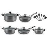 16 Piece High Performance Nonstick Pots and Pans/Cookware Set Soup Pot Frying Pan Kitchen Shovels Set