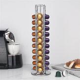 40 stks metalen koffiecapsules pod houder geschikt voor nespresso capsule opslag houder
