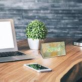 Bakeey LED digitális kijelző ébresztőóra hangvezérlő asztal szundi órák hálószobákhoz