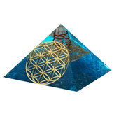 Krystaller Apatite Orgone Gemstone Pyramid Meditation Yoga Energi Generator Healing