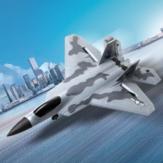 FX Flybear FX922 F-22 Raptor EPP 315mm Kanat Açıklığı 2.4GHz 4CH Dahili Gyro Çift Motorlu Güç RC Uçak Jet Eğitmeni Warbird Yeni Başlayanlar için Sabit Kanatlı RTF
