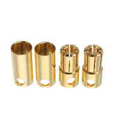 2 Pairs 5.0/5.5/6.0/6.5/8.0mm Bullet Connector Banana Plug Multirotor Spare Part for RC Battery/Moto