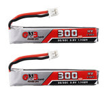2Pcs Gaoneng GNB 3.8V 300mAh 30C 1S Lipo Battery PH2.0 Plug for Happymodel Mobula7 Happymodel Mobula6 Eachine Beta FPV