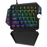 ZIYOULANG K5 Проводной одноручный Механический Клавиатура 39 клавиш синий переключатель RGB для одной руки игровой Клавиатура для PS4 компьютер ПК