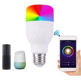 E27 7W Dimmable RGBW WIFI APP制御 LEDスマートな電球 Alexa Google Home AC85-265V用