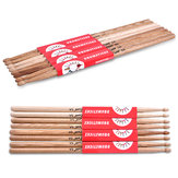 2pcs of Oak Wood Oval Tip Drum Sticks 5A Drumsticks 16 inch Length
