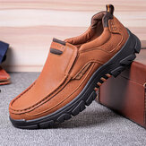 Men Microfiber Leather Outdoor Non Slip Casual Shoes