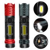 XANES® W750 XHP99 + COB 2000LM Güçlü LED Yan Işıklı El Feneri ve Mıktanıs Kuyruk Zumlanabilir Taktik LED Avcılık İçin Meşale Kampçılık