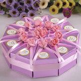 10pcs créatifs boîte mariage coffrets cadeaux parti au chocolat gâteau gâteau de bonbons