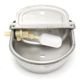 Ciotola per bevande da pecora da mucca da cavallo con valvola a galleggiante per acqua in acciaio inossidabile da 2,5 litri