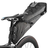 ROCKBROS 10L Waterproof Bike Bicycle Saddle Bag Reflective Folding Tail Rear Bag Bike MTB Backpack