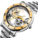 IK COLOURING 98399 Business Style Men Wrist Watch Besi tahan karat Strap Automatic Mekanis Watches