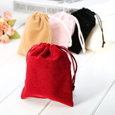 1pc Velvet Drawstring Bag Jewelry Christmas Birthday Wedding Gifts Pouch