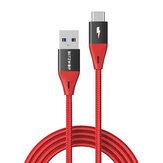 BlitzWolf® BW-TC22 3A QC3.0 USB-C إلى USB 3.0 Nylon كابل مضفر 3ft / 6ft 5Gbps سلك نقل البيانات لـ Samsung Galaxy S21 ملحوظة S20 ultra Huawei Mate40 P50 OnePlus 9 Pro