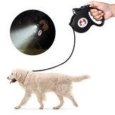 DIGOO DG-PL901 5М Выдвижной поводок для домашних животных Водонепроницаемы Автоматический гибкий Собака поводок 360 ° самоблокирующийся Крюк с фо