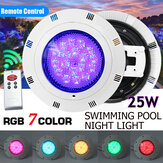 25W RGB LED Pool Light Bright Underwater Swimming Lamp with Remote Control AC12V