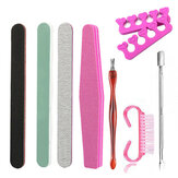 9pcs Manicure Tool Nail File Dead Skin Fork Polishing Strip Polished Nail Set