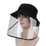 Protetor de segurança Rosto cheio Máscara Escudo Removível Dobrável Anti-Poeira Anti-Splash Face Cover