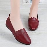 Women Lace Trim Comfy Soft Sole Casual Slip On Flats Loafers