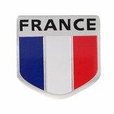 Distintivo in lega di alluminio francia bandiera francese pettern 3d scudo adesivo emblema decorazione decalcomania