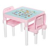 子供の学習テーブルと椅子セット幼稚園のバックチェアプラスチック子供テーブル家具セット家庭用品