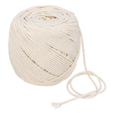 L350M D2mm Macrame Rope Natural Beige Cotton Twisted Cord Braided Wire For Hand Craft