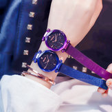 LuxeklokmagneetgesphorlogeDiamond Watches Geometrische oppervlak Fashion Casual Dress Quartz horloge