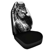 Universal Wolf Girl Polyester Car SUV Seat Cover Vehicle Seat Cushion Protector
