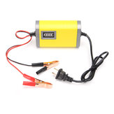 12V 2A Car Motorcycle Smart Automatique Batterie Chargeur Jaune Couleur